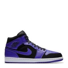 NIKE/耐克 Air Jordan 1 Mid AJ1乔1经典高帮男女运动篮球鞋 554724-051 554724-129图片