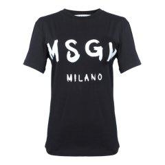 【19春夏新款】MSGM/MSGM  白色棉质logo字母图案女士短袖T恤2641MDM60 195298图片