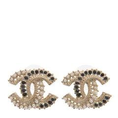 Chanel 香奈儿 女士新款金属耳钉 AB0182-GP图片