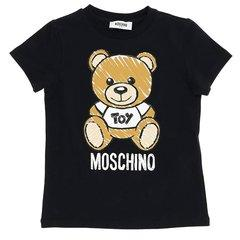 MOSCHINO KIDS/MOSCHINO KIDS 19年春夏 圆领 女童 小熊印花 logo 灰色 儿童T恤 HPM01I#LBA00#60901图片