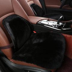 【奢品节可用券】NATU  澳洲进口汽车冬季羊毛坐垫 汽车羊毛三件套带腰靠座垫  羊毛绒坐垫灰色图片