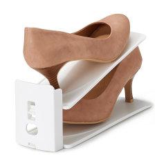 【6组装鞋架】利快鞋整理架Like it日本进口双层高度可调鞋架简易鞋收纳架   节省双倍空间图片