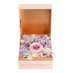 JoyFlower情人节进口永生花礼盒生日礼物因为遇见你系列-2种颜色定制图片