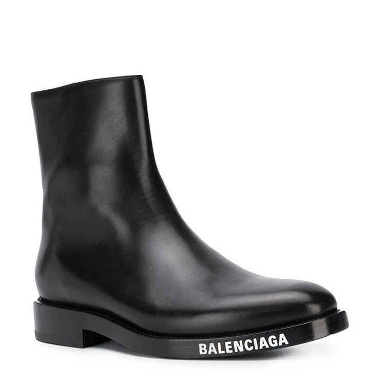 Balenciaga/巴黎世家 20年秋冬 百搭 男性 logo 黑色 男士短靴 590717#WA720#1000