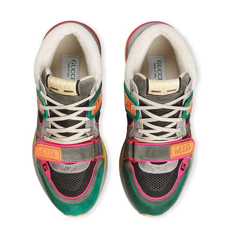 GUCCI/古驰 20年春夏 Ultrapace系列男士中帮运动鞋 男性 拼色 男士短靴 5981320PVZ0_3185