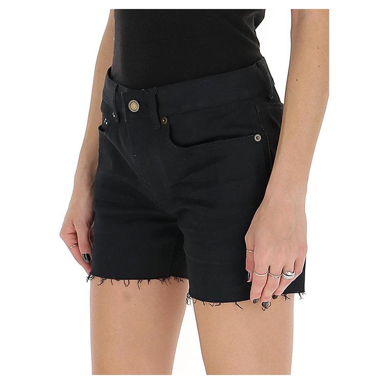 SAINT LAURENT PARIS/SAINT LAURENT PARIS 20年春夏 百搭 女性 黑色 女士短裤 622118 YO500 1080
