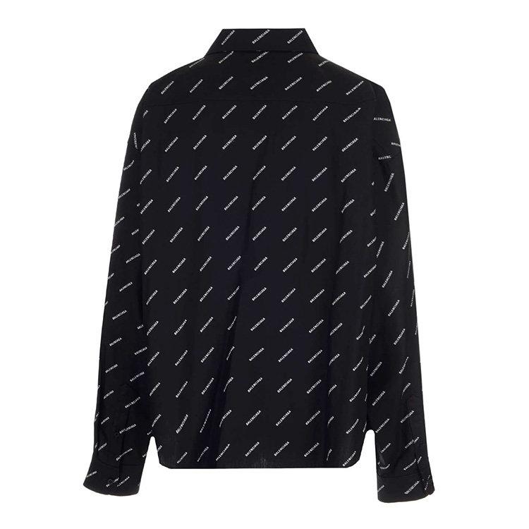 Balenciaga/巴黎世家 20年秋冬 百搭 女性 logo 黑色 女士长袖衬衫 583895/TBL961070