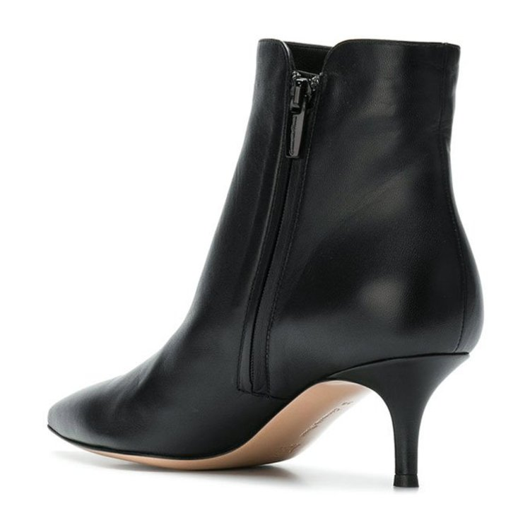 GIANVITO ROSSI/GIANVITO ROSSI 19年秋冬 尖头 女性 细跟 裸靴 黑色 及踝靴 G7386855RICBLACK